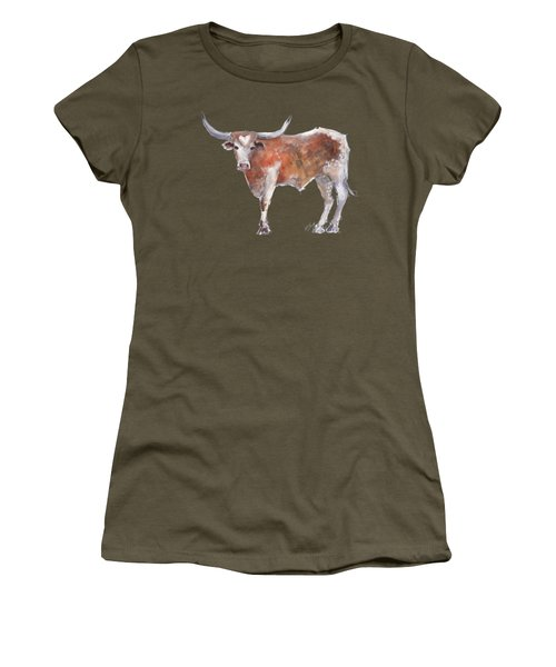 Heart Of Texas Longhorn Women's T-Shirt (Athletic Fit)