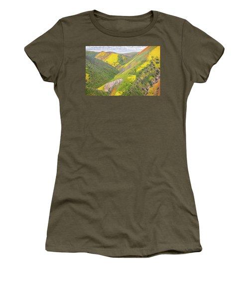 Women's T-Shirt (Junior Cut) featuring the photograph Heart Of The Temblor Range by Marc Crumpler