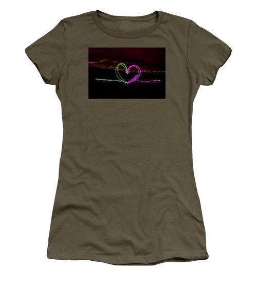 Hearts In The Night Women's T-Shirt