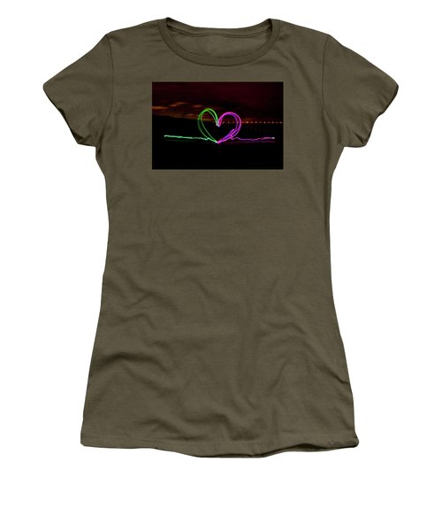 Hearts In The Night Women's T-Shirt
