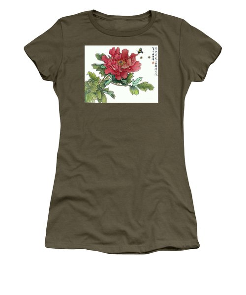 Heavenly Flower Women's T-Shirt (Junior Cut) by Yufeng Wang
