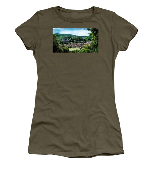 Women's T-Shirt (Athletic Fit) featuring the photograph Heidelberg Germany by David Morefield
