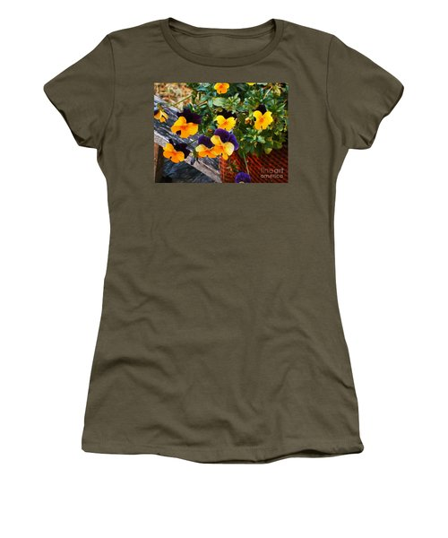 Women's T-Shirt (Junior Cut) featuring the photograph Hello Spring by Donna Dixon