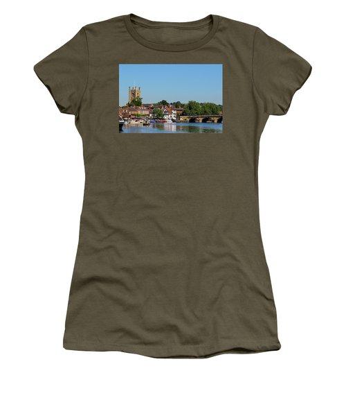 Henley On Thames Women's T-Shirt (Junior Cut) by Ken Brannen