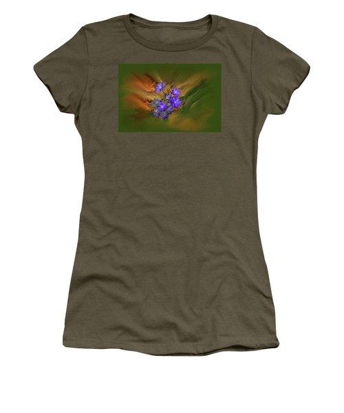 Hepatica Nobilis Painterly #h4 Women's T-Shirt