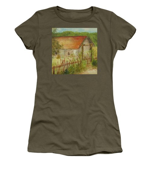 Women's T-Shirt (Junior Cut) featuring the painting Herb Garden by Vicki  Housel