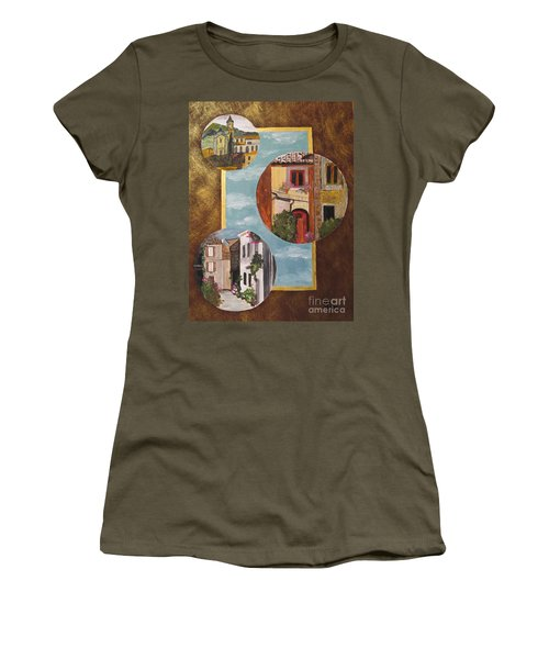 Women's T-Shirt (Junior Cut) featuring the painting Heritage by Judy Via-Wolff