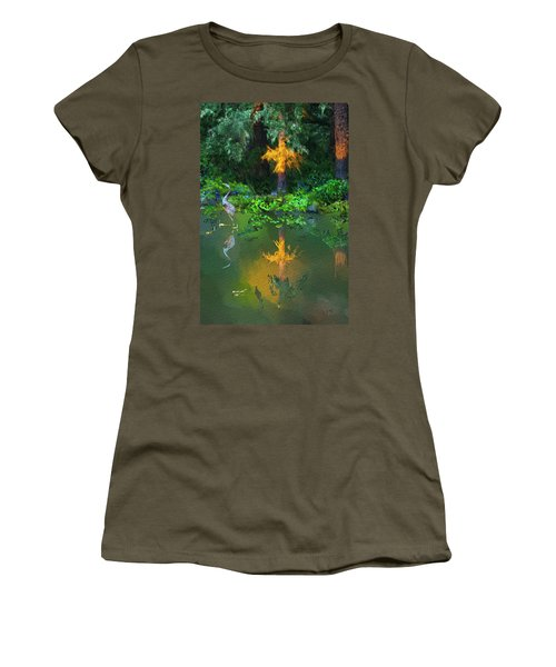 Women's T-Shirt (Junior Cut) featuring the digital art Heron Art by Dale Stillman
