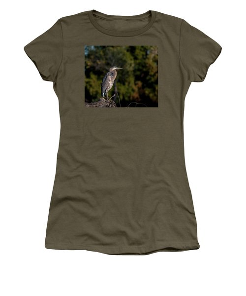 Heron At Sunrise Women's T-Shirt (Junior Cut) by Martina Thompson