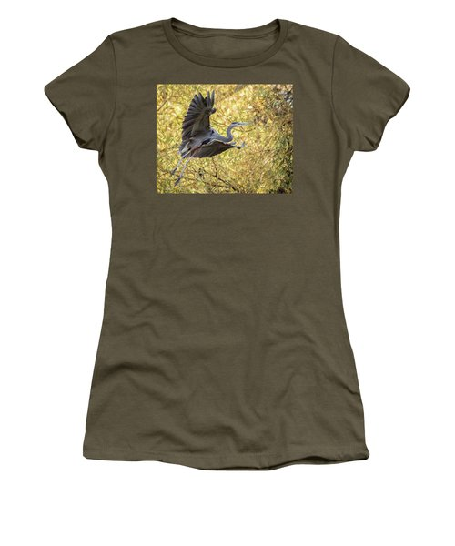 Heron In Flight Women's T-Shirt (Junior Cut) by Keith Boone