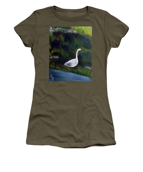 Heron Women's T-Shirt (Junior Cut) by Loretta Nash