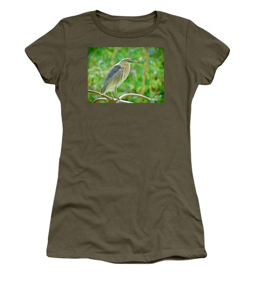 Heron On The Edge Women's T-Shirt (Athletic Fit)