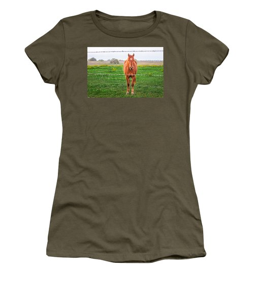Women's T-Shirt featuring the photograph Hey You - Ya You by Melinda Ledsome