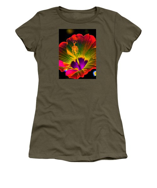 Hibiscus 01 - Summer's End - Photopower 3189 Women's T-Shirt (Athletic Fit)