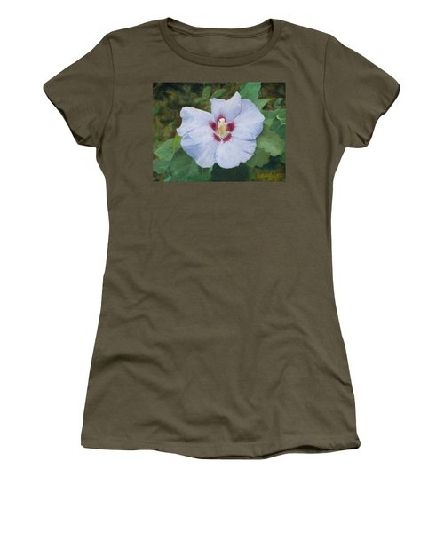 Women's T-Shirt (Junior Cut) featuring the painting Hibiscus by Joshua Martin