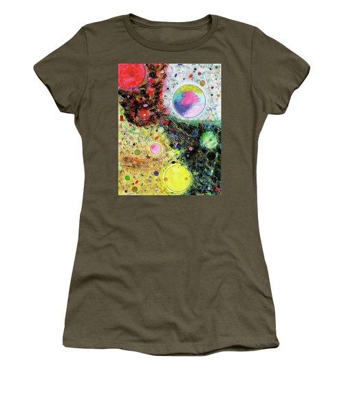 Women's T-Shirt featuring the mixed media Hidden Aliens by Michael Lucarelli