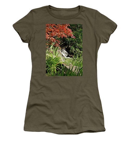 Women's T-Shirt (Athletic Fit) featuring the photograph Hidden Cascade by Michele Myers