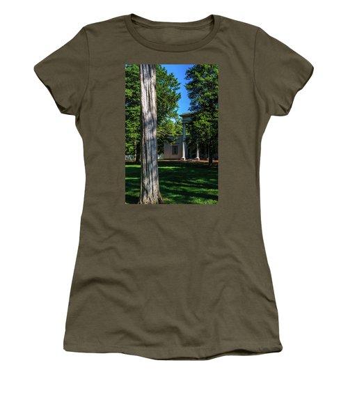 Women's T-Shirt (Athletic Fit) featuring the photograph Hidden Columns - Color by James L Bartlett