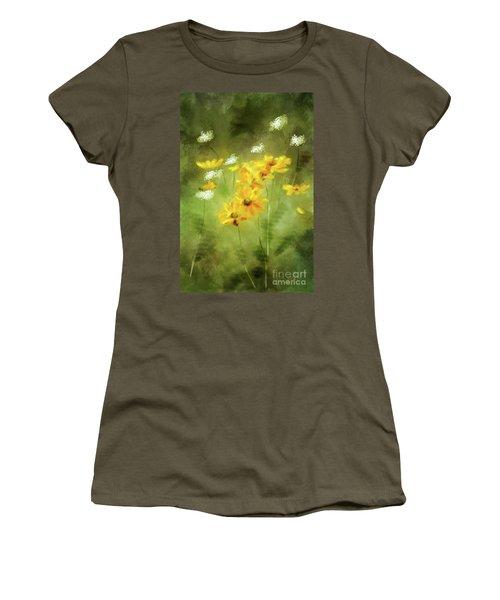 Women's T-Shirt (Junior Cut) featuring the digital art Hidden Gems by Lois Bryan