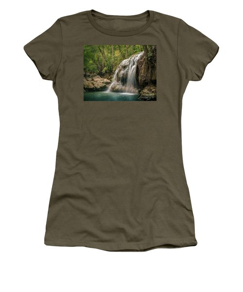 Women's T-Shirt (Junior Cut) featuring the photograph Hidden In The Jungle Of Guatemala by Jola Martysz
