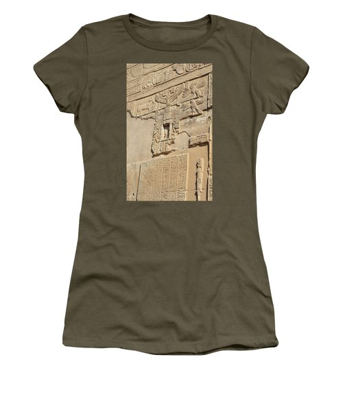 Women's T-Shirt (Athletic Fit) featuring the photograph Hieroglyphic by Silvia Bruno