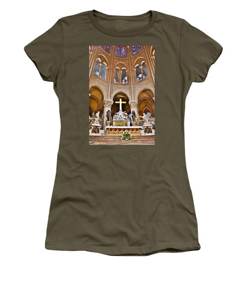 High Alter Notre Dame Cathedral Paris France Women's T-Shirt