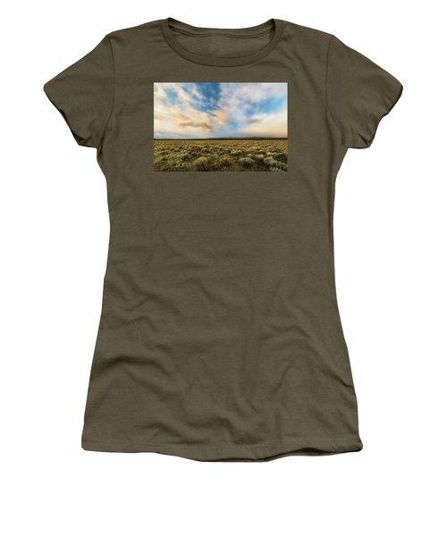 Women's T-Shirt (Junior Cut) featuring the photograph High Desert Morning by Ryan Manuel