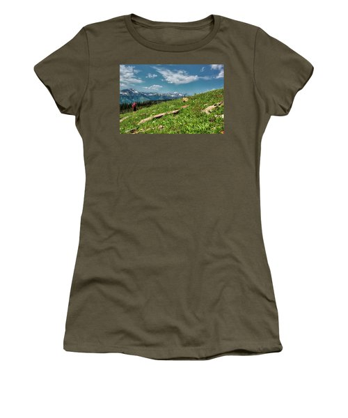 Highline Trail Adventure Women's T-Shirt (Athletic Fit)