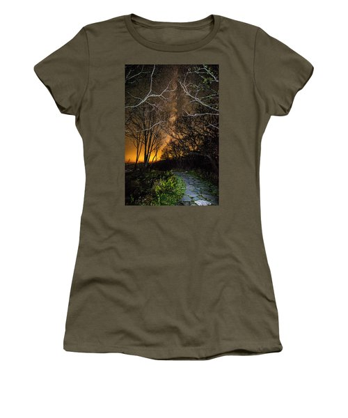 Hiking The Milky Way Women's T-Shirt