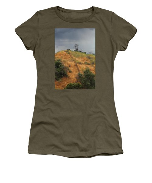 Hill Divided By Fence Women's T-Shirt (Athletic Fit)