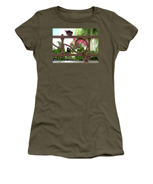 His Eye Is On The Sparrow Women's T-Shirt (Athletic Fit)