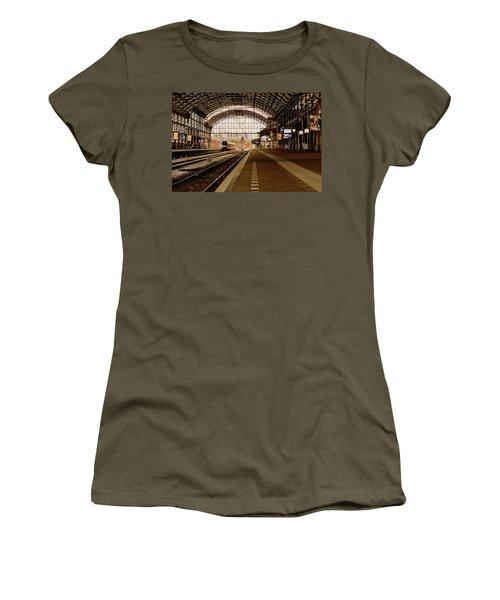 Historic Railway Station In Haarlem The Netherland Women's T-Shirt (Junior Cut) by Yvon van der Wijk