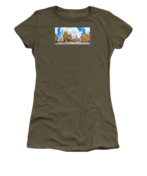 Historic Townsquare Of Rothenburg Ob Der Tauber, Franconia, Bava Women's T-Shirt (Athletic Fit)