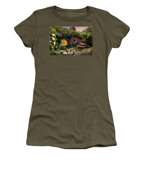 Hobbit Hole At Sunset Women's T-Shirt (Athletic Fit)