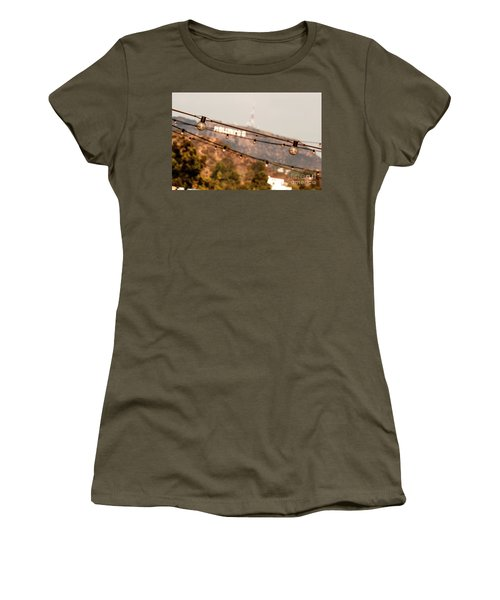 Women's T-Shirt (Junior Cut) featuring the photograph Hollywood Sign On The Hill 2 by Micah May