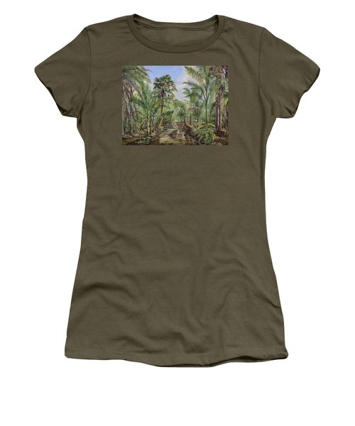 Homestead Tree Farm Women's T-Shirt (Junior Cut) by AnnaJo Vahle