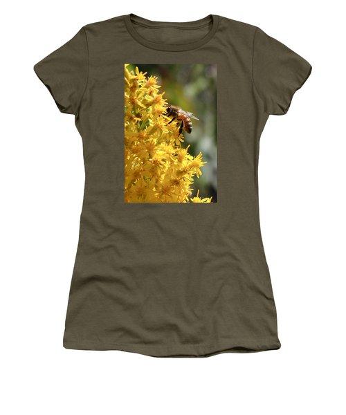 Honeybee On Showy Goldenrod Women's T-Shirt