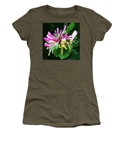 Honeysuckle Bloom Women's T-Shirt (Junior Cut) by Robert FERD Frank