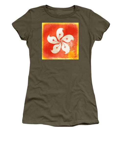 Hong Kong China Flag Women's T-Shirt