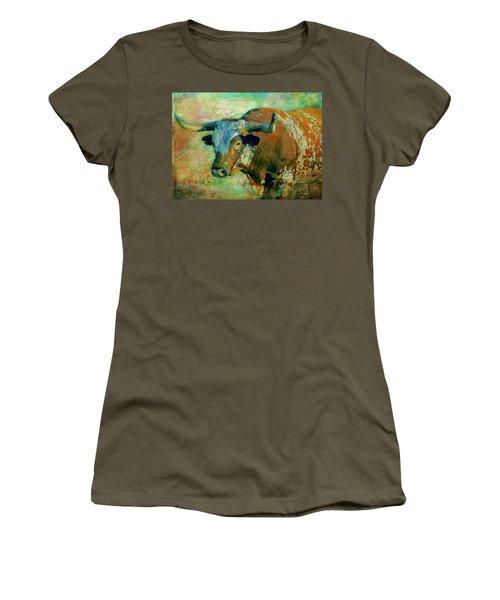 Hook 'em 1 Women's T-Shirt (Junior Cut) by Colleen Taylor