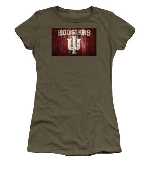 Women's T-Shirt featuring the digital art Hoosiers Barn Door by Dan Sproul