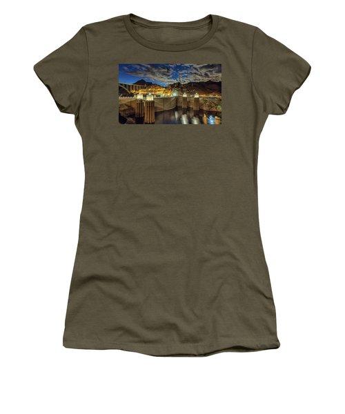 Hoover Dam Women's T-Shirt (Junior Cut) by Michael Rogers
