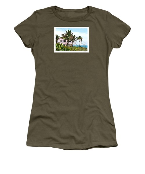 Women's T-Shirt (Junior Cut) featuring the photograph Hope Sound House by Linda Olsen