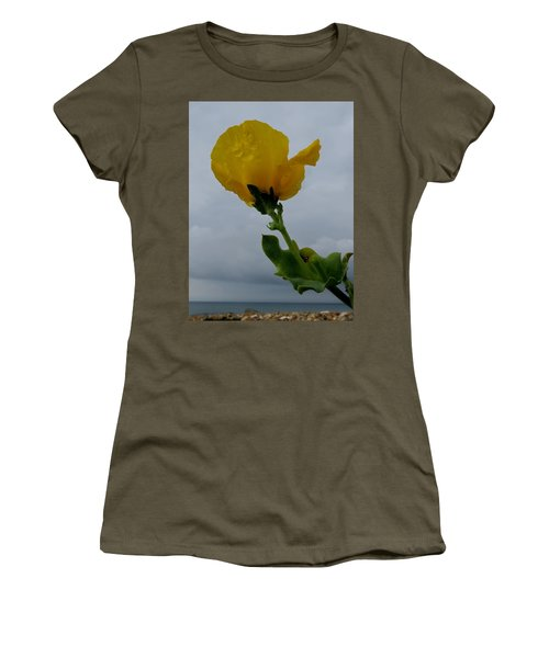 Horned Poppy Women's T-Shirt (Junior Cut) by John Topman