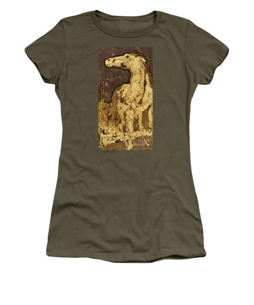 Horse Above Stones Women's T-Shirt (Athletic Fit)