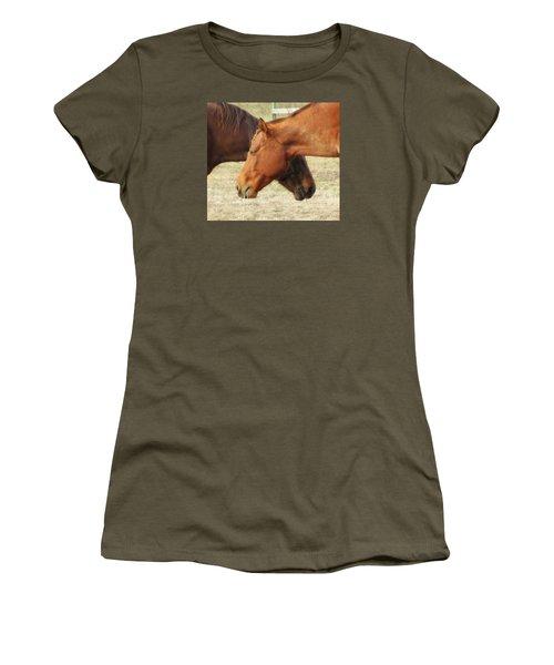 Horses In Sinc Women's T-Shirt (Junior Cut) by MTBobbins Photography