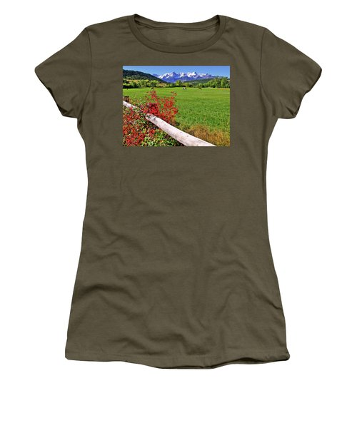 Horses In The San Juans Women's T-Shirt (Athletic Fit)