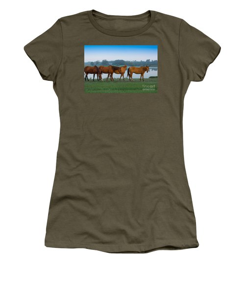 Horses On The Walk Women's T-Shirt