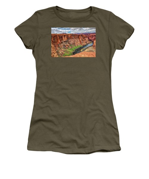 Horseshoe Bend Arizona - Colorado River #5 Women's T-Shirt (Junior Cut) by Jennifer Rondinelli Reilly - Fine Art Photography