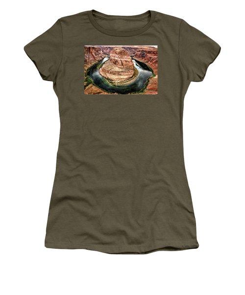 Horseshoe Bend Colorado River Women's T-Shirt (Athletic Fit)